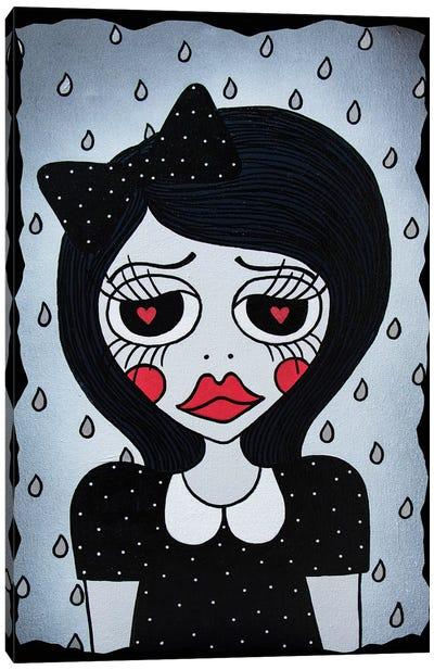 Broken Hearts, Make It Rain Canvas Art Print