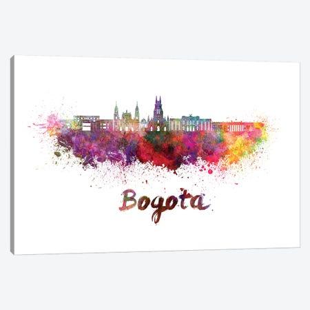 Bogota Skyline In Watercolor II Canvas Print #PUR100} by Paul Rommer Art Print