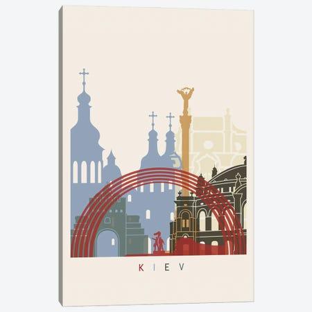 Kiev Skyline Poster Canvas Print #PUR1017} by Paul Rommer Canvas Artwork