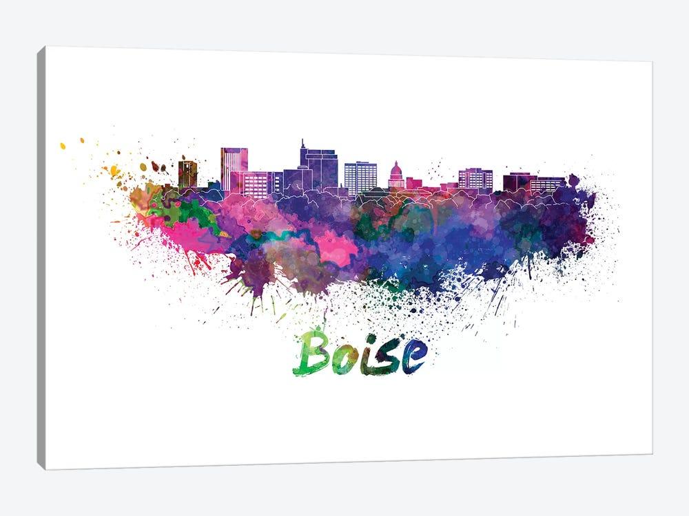 Boise Skyline In Watercolor by Paul Rommer 1-piece Art Print