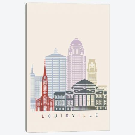 Louisville Skyline Poster Canvas Print #PUR1050} by Paul Rommer Art Print