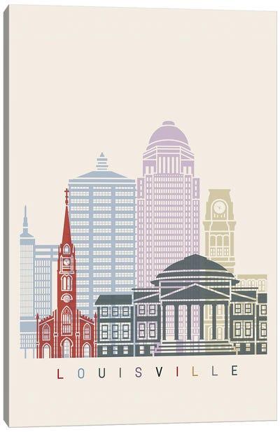 Louisville Skyline Poster Canvas Art Print