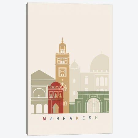 Marrakesh Skyline Poster Canvas Print #PUR1059} by Paul Rommer Art Print