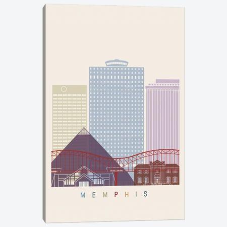 Memphis Skyline Poster Canvas Print #PUR1061} by Paul Rommer Canvas Art