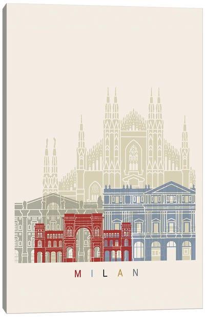 Milan II Skyline Poster Canvas Art Print