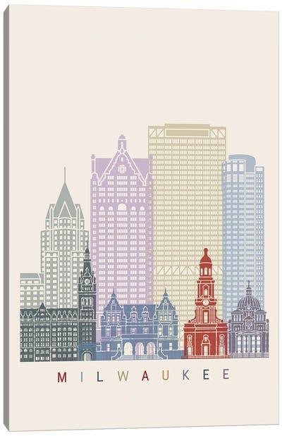 Milwaukee Skyline Poster Canvas Art Print