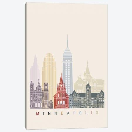 Minneapolis II Skyline Poster Canvas Print #PUR1066} by Paul Rommer Canvas Art Print