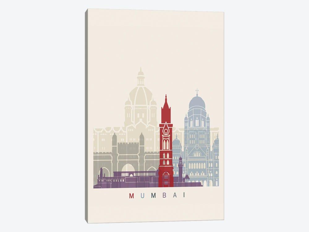 Mumbai Skyline Poster by Paul Rommer 1-piece Canvas Art