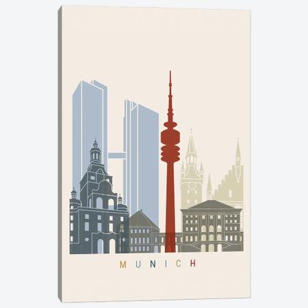 Munich Skyline Poster Canvas Print #PUR1072} by Paul Rommer Art Print
