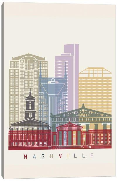Nashville Skyline Poster Canvas Art Print