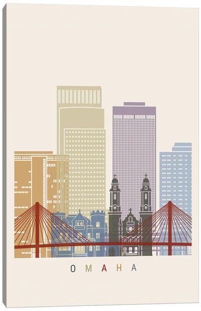 Omaha Skyline Poster Canvas Art Print