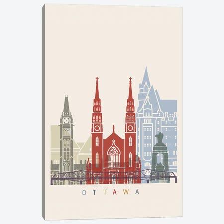 Ottawa Skyline Poster Canvas Print #PUR1087} by Paul Rommer Canvas Art Print