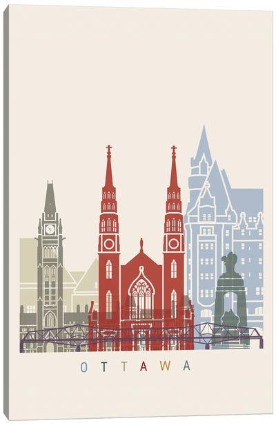 Ottawa Skyline Poster Canvas Art Print