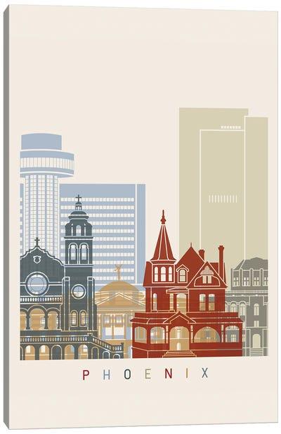 Phoenix Skyline Poster Canvas Art Print