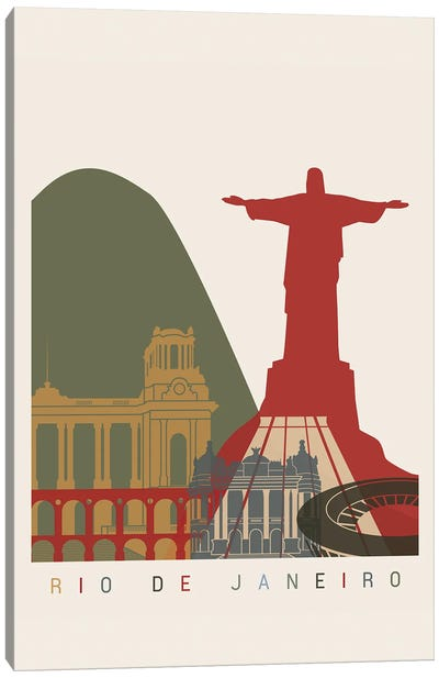 Rio De Janeiro Skyline Poster Canvas Art Print