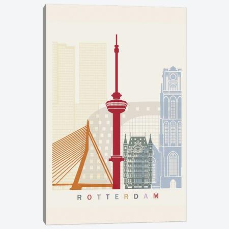 Rotterdam Skyline Poster Canvas Print #PUR1115} by Paul Rommer Art Print