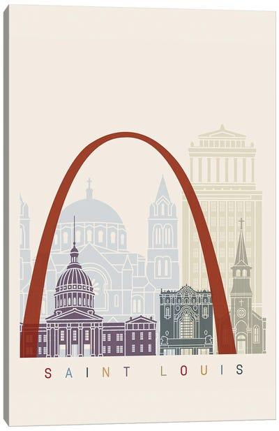 Saint Louis Skyline Poster Canvas Art Print