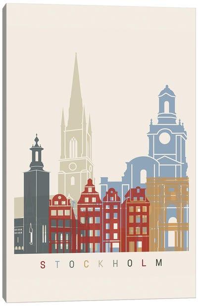 Stockholm Skyline Poster Canvas Art Print