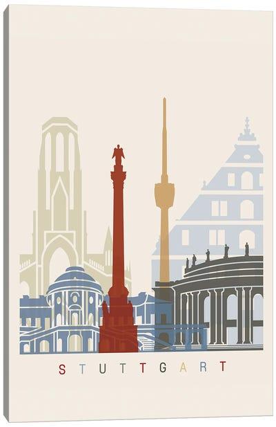 Stuttgart Skyline Poster Canvas Art Print
