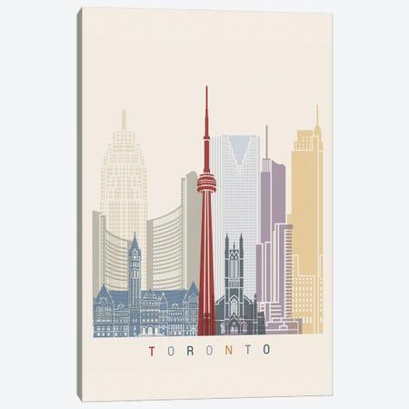 Toronto Skyline Poster Canvas Print #PUR1141} by Paul Rommer Art Print