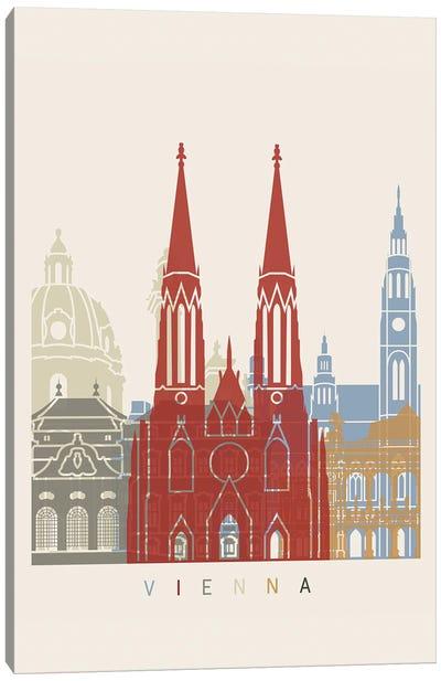 Vienna Skyline Poster Canvas Art Print