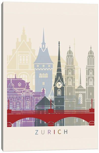 Zurich Skyline Poster Canvas Art Print