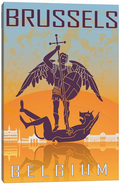 Brussels Vintage Poster Canvas Art Print