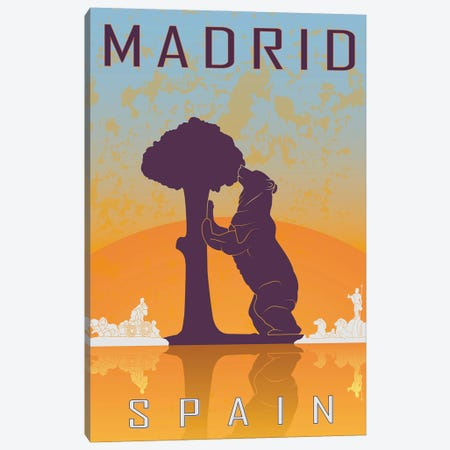 Madrid Vintage Poster Canvas Print #PUR1161} by Paul Rommer Canvas Art Print