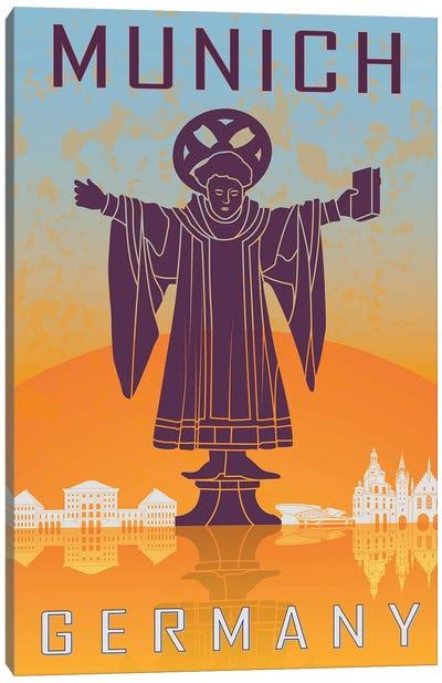 Munich Vintage Poster Canvas Art Print