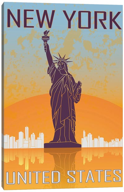 New York Vintage Poster Canvas Art Print