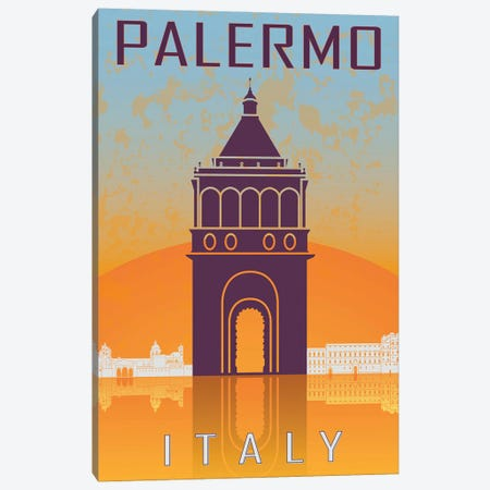 Palermo Vintage Poster Canvas Print #PUR1164} by Paul Rommer Canvas Wall Art