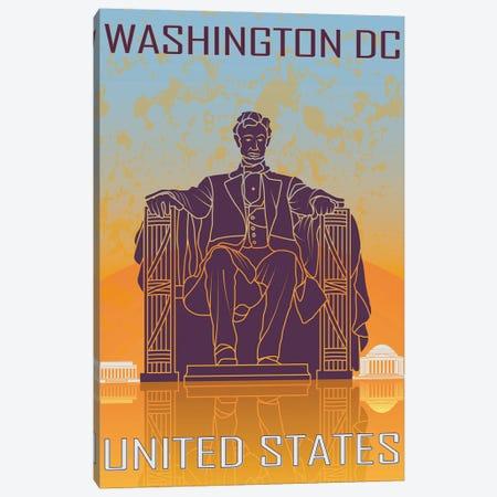 Washington Dc Vintage Poster Canvas Print #PUR1175} by Paul Rommer Canvas Print
