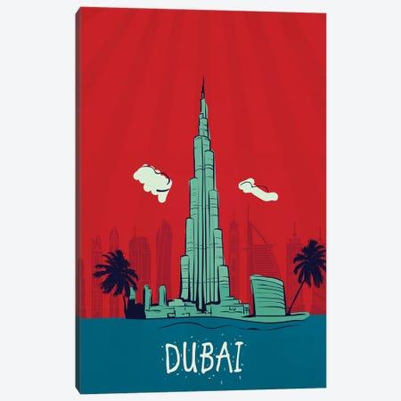 Dubai Vintage Poster Travel Canvas Print #PUR1177} by Paul Rommer Canvas Art Print