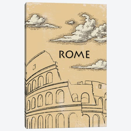 Rome Vintage Poster Travel Canvas Print #PUR1182} by Paul Rommer Canvas Print