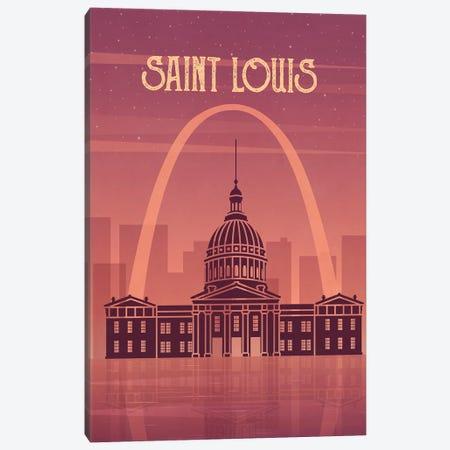 Saint Louis Vintage Poster Travel Canvas Print #PUR1183} by Paul Rommer Canvas Art Print