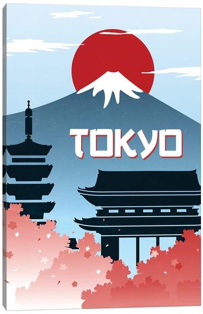 Tokyo Vintage Poster Travel Canvas Art Print