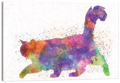 Burma Cat In Watercolor Canvas Art Print