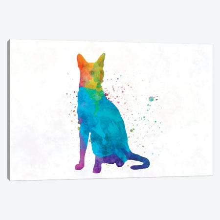 Cornish Rex Cat In Watercolor Canvas Print #PUR1194} by Paul Rommer Canvas Print