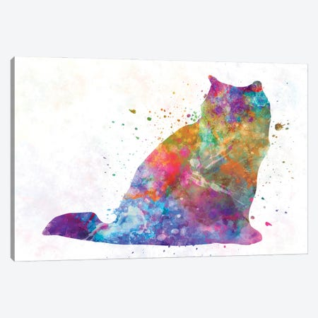 Himalayan Cat In Watercolor Canvas Print #PUR1198} by Paul Rommer Canvas Artwork