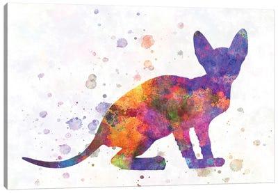 Peterbald Cat In Watercolor Canvas Art Print