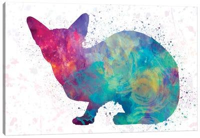 Sphinx Cat In Watercolor Canvas Art Print