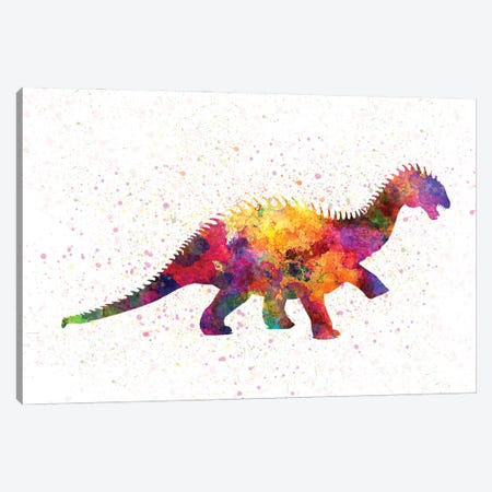 Barapasaurus In Watercolor Canvas Print #PUR1228} by Paul Rommer Canvas Art