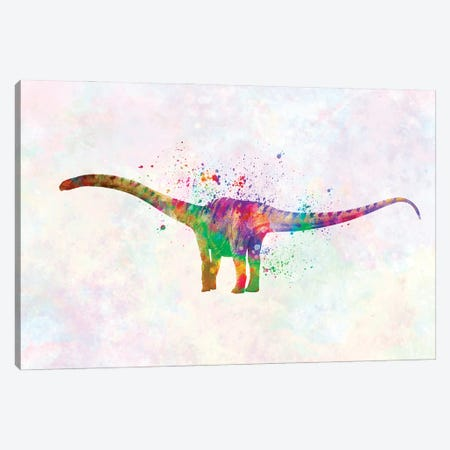 Mamenchisaurus In Watercolor Canvas Print #PUR1241} by Paul Rommer Canvas Art