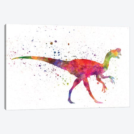 Oviraptor In Watercolor Canvas Print #PUR1244} by Paul Rommer Canvas Print