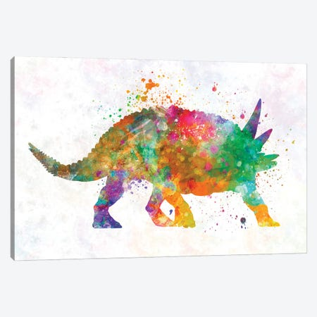 Sauropelta In Watercolor Canvas Print #PUR1246} by Paul Rommer Art Print