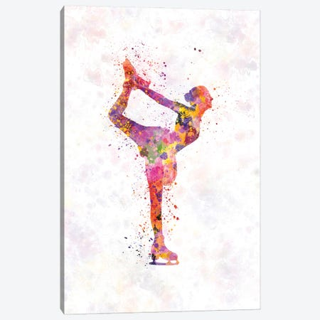 Figure Skating In Watercolor II Canvas Print #PUR1252} by Paul Rommer Canvas Art Print