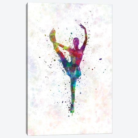Figure Skating In Watercolor III Canvas Print #PUR1253} by Paul Rommer Canvas Print
