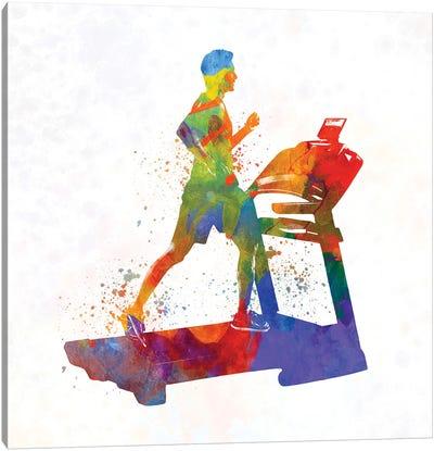Male Running Treadmill Canvas Art Print