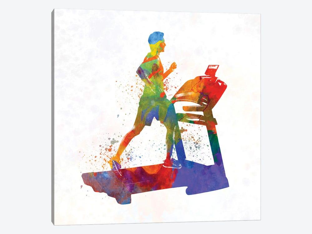 Male Running Treadmill by Paul Rommer 1-piece Canvas Art Print