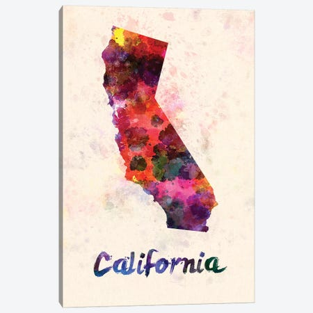 California Canvas Print #PUR126} by Paul Rommer Canvas Wall Art